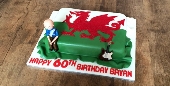 Welsh Flag Cake