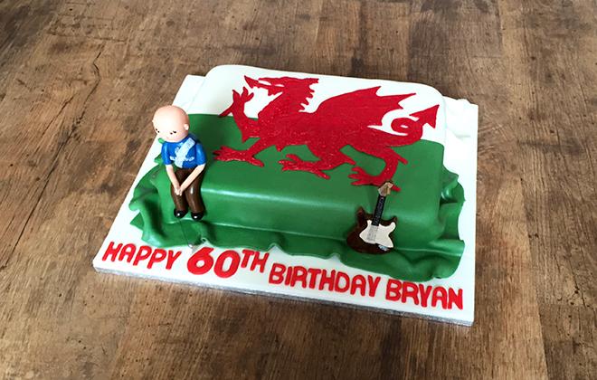 Welsh Flag Cake